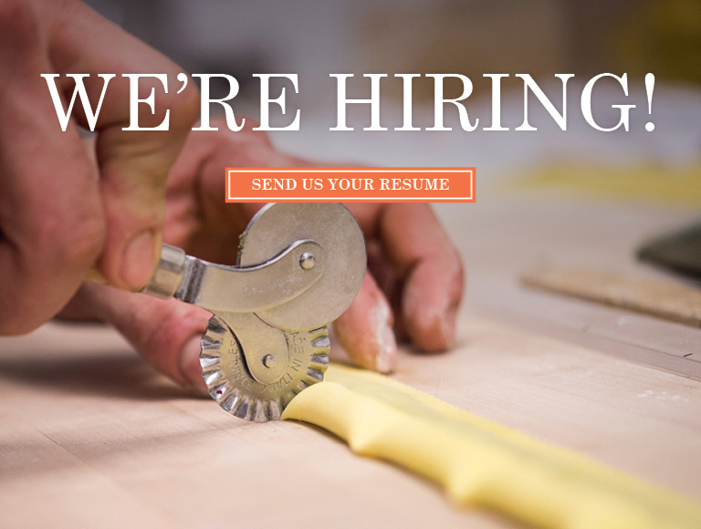 We're Hiring at Lincoln Ristorante! Send Us Your Resume