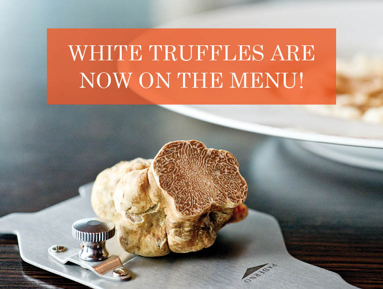White truffles are now on the menu!