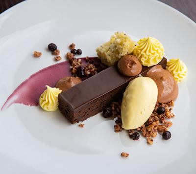 Dessert served at NYC's Lincoln Ristorante