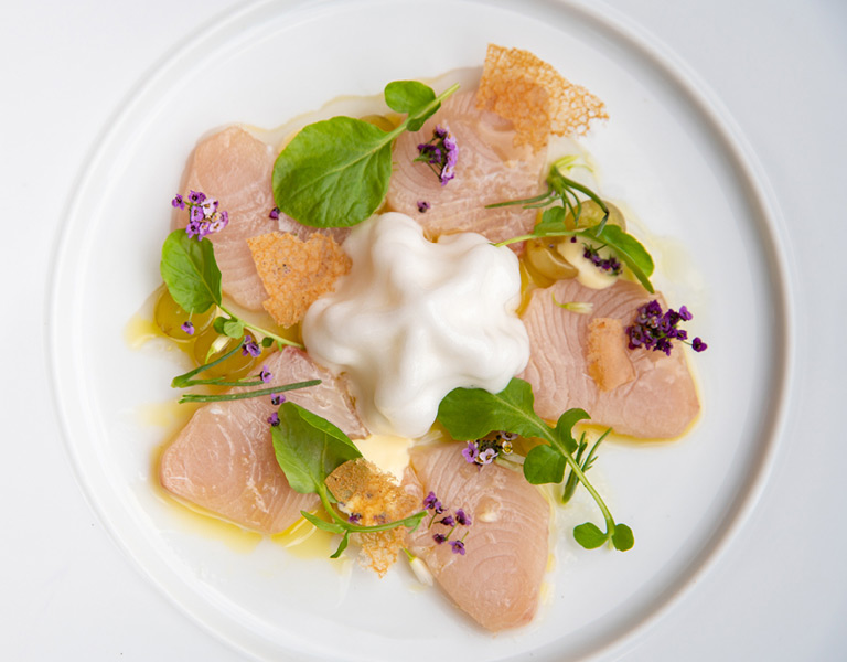 Crudo served at Lincoln Ristorante in New York City