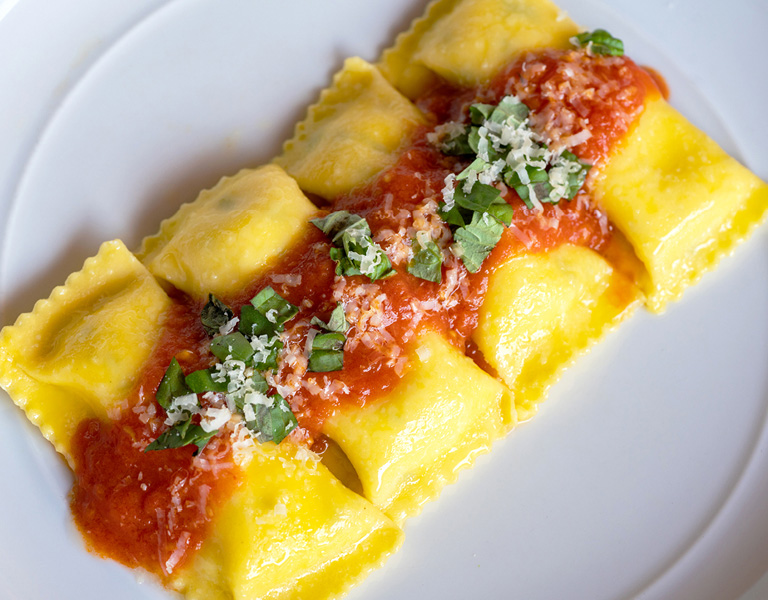Ravioli Al Quattro Formaggio served at New York City's Lincoln Ristorante