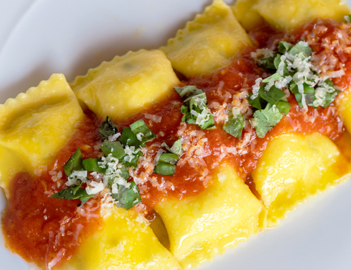 Ravioli served at Lincoln Ristorante in New York City