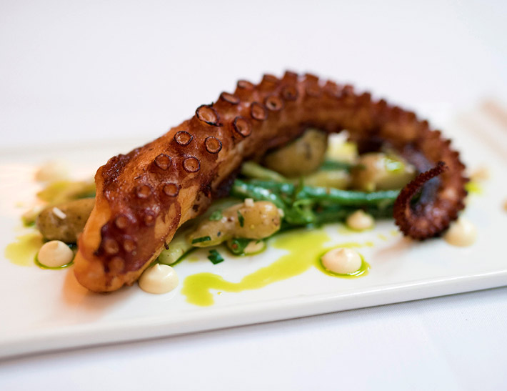 Octopus served at Cafe Centro in NYC