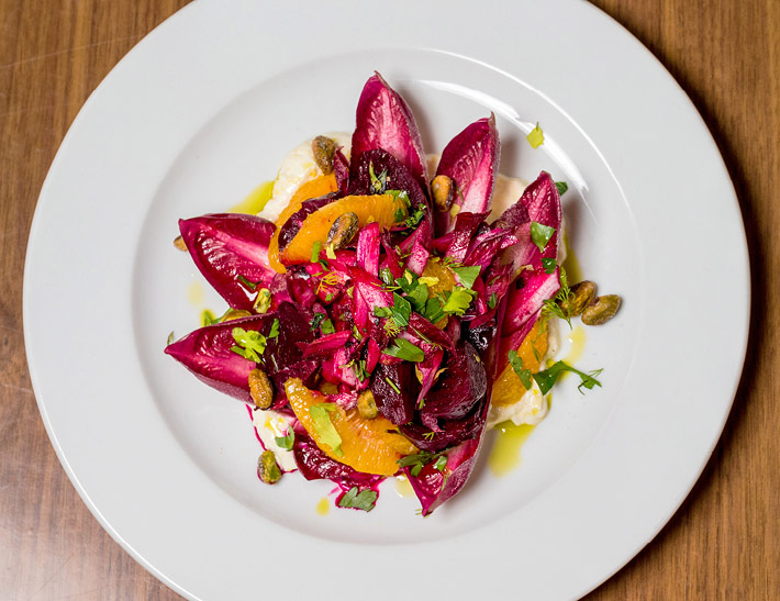 Endive salad served at Yellow Magnolia Cafe at the Brooklyn Botanic Garden