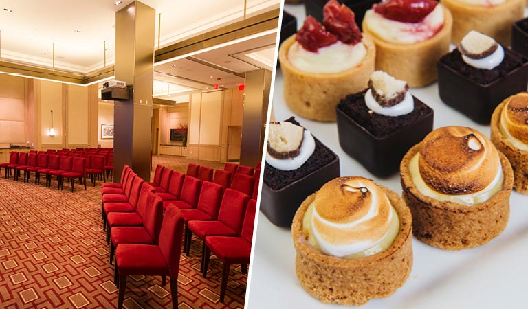Private Events at Vanderbilt Suites | Conference Area | Tray of Desserts