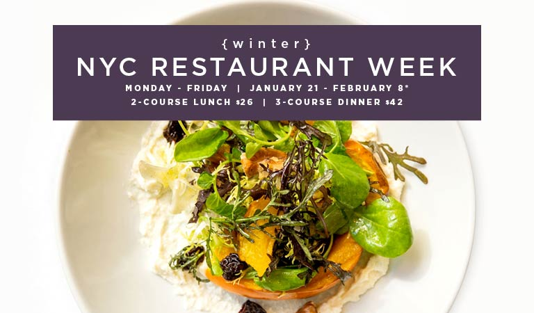 View menus & reserve for New York City Restaurant Week | Winter 2019 | January 21-February 8
