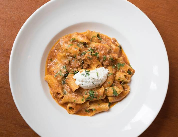fresh pasta, dining near Rockefeller Center, NYC