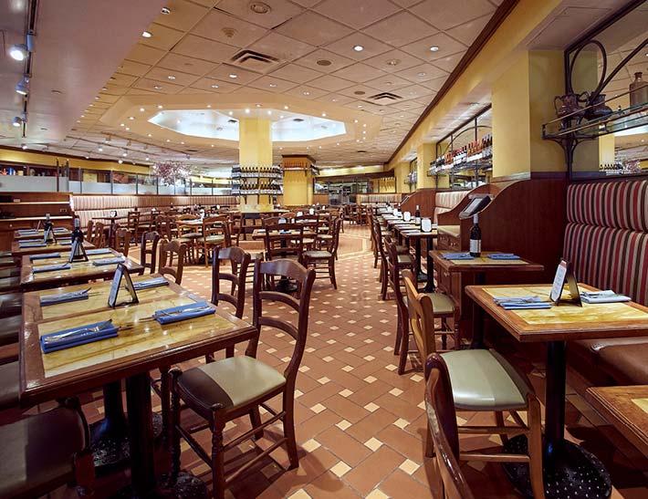 Cucina & Co. dining room interior, Rockefeller Center Restaurant