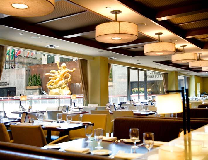 Rock Center Cafe dining room interior, Rockefeller Center Restaurant