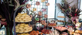 Table display of desserts, Patina Catering, Culinary Design
