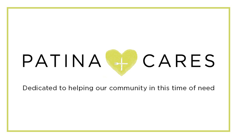Patina Cares | Dedicated to helping our community in this time of need