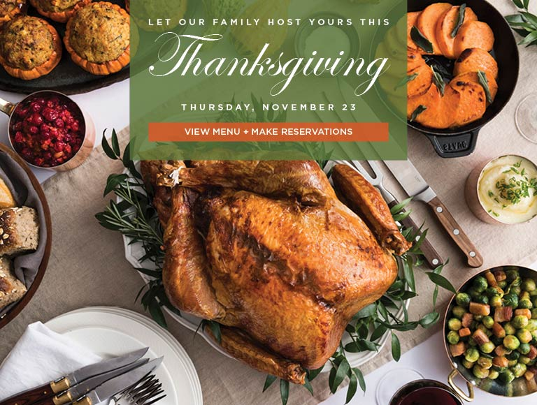Thanksgiving with Patina Restaurant Group
