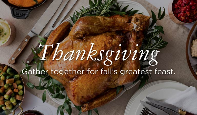 Thanksgiving Dinner & Brunch with Patina Restaurant Group