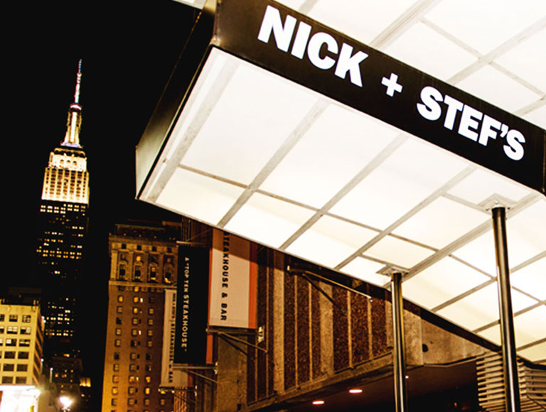 Nick and Stef's exterior