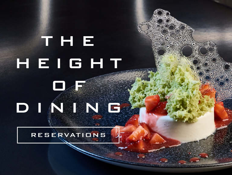 The height of dining, reservations.