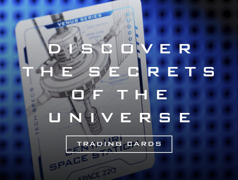 Discover the secrets of the universe, trading cards.