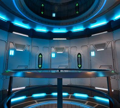 Interior of spaceship
