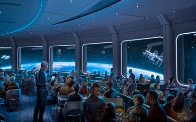 interior view of Space 220 Restaurant