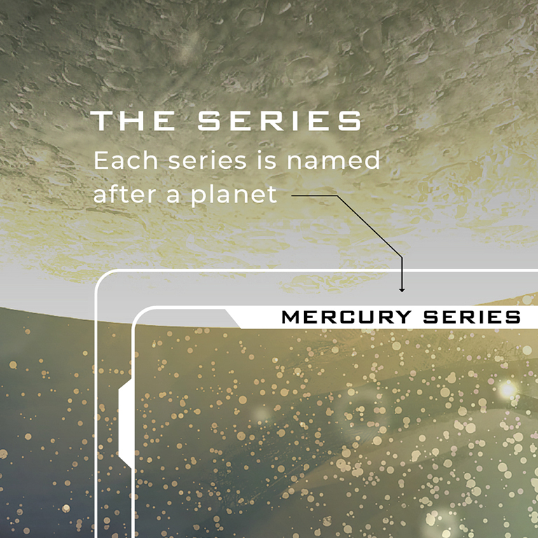 The series. Each series is named after a planet.