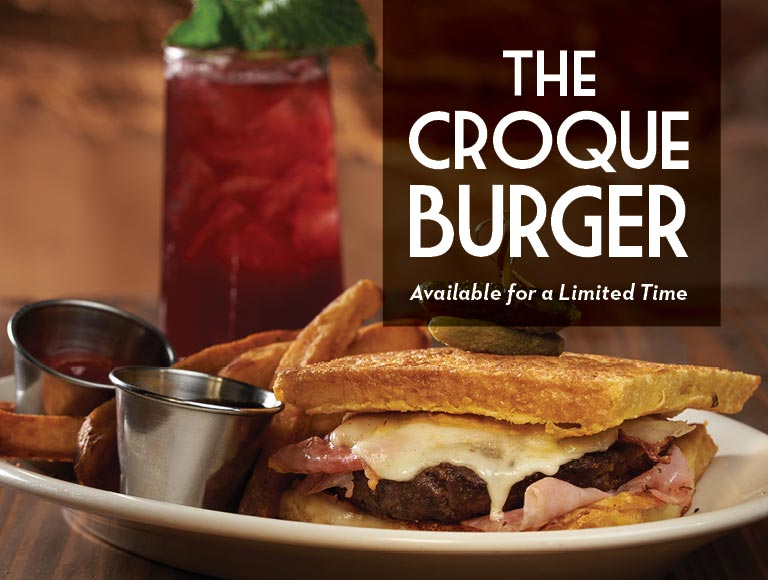 The Croque Burger available for a limited time, Disney Springs Restaurant