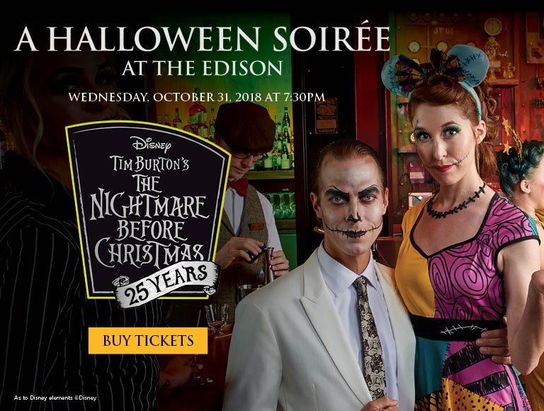 Buy tickets for A Halloween Soiree at The Edison, October 31, 2018, Disney Springs Restaurant