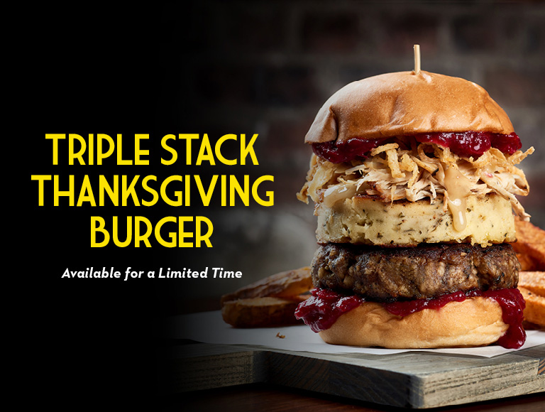 Triple Stack Thanksgiving Burger available for a limited time, Disney Springs Restaurant