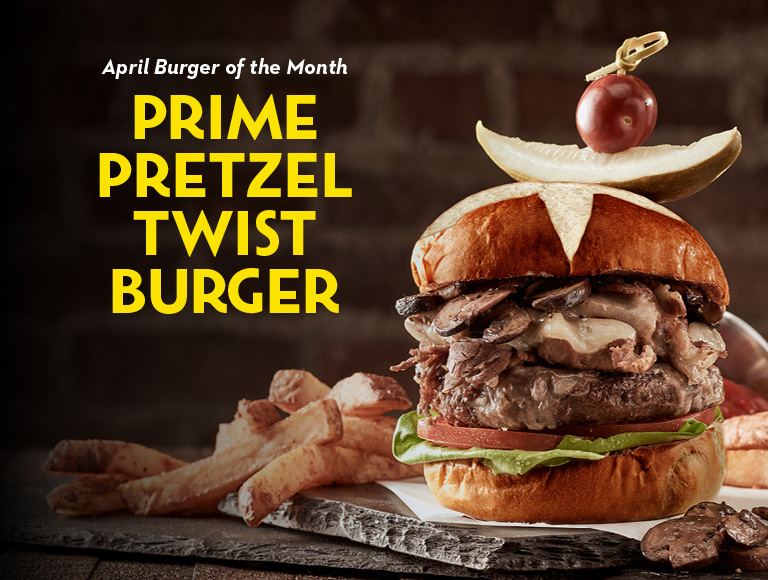 April Burger of the Month | Prime Pretzel Twist Burger | Disney Springs Restaurant