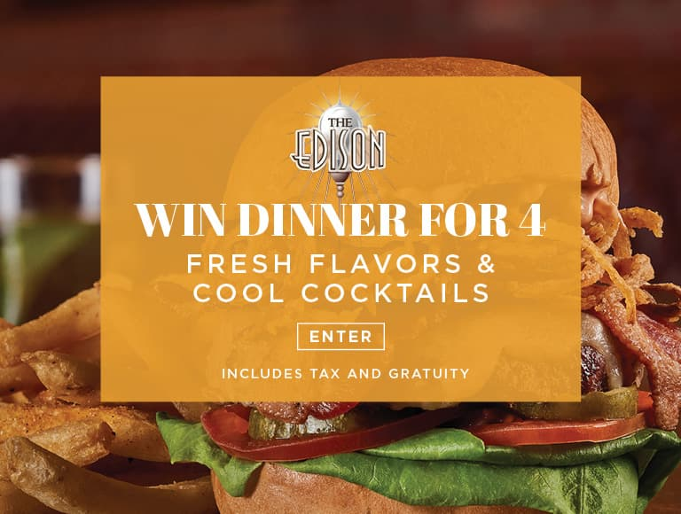 Win a dinner for four at The Edison