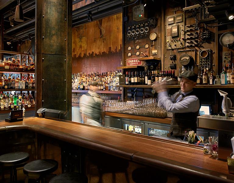 The Edison bar, Disney Springs, Florida