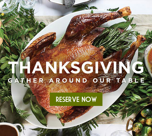 Reserve Now For Thanksgiving