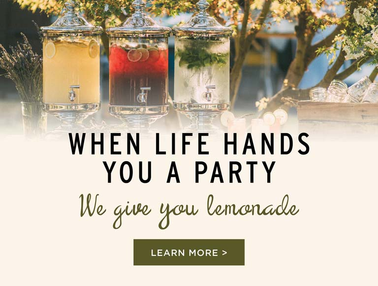 Book Your 2018 Catered Event To Get A Complimentary Lemonade Station