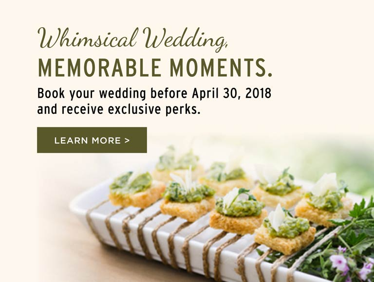 Book Your 2018 Wedding