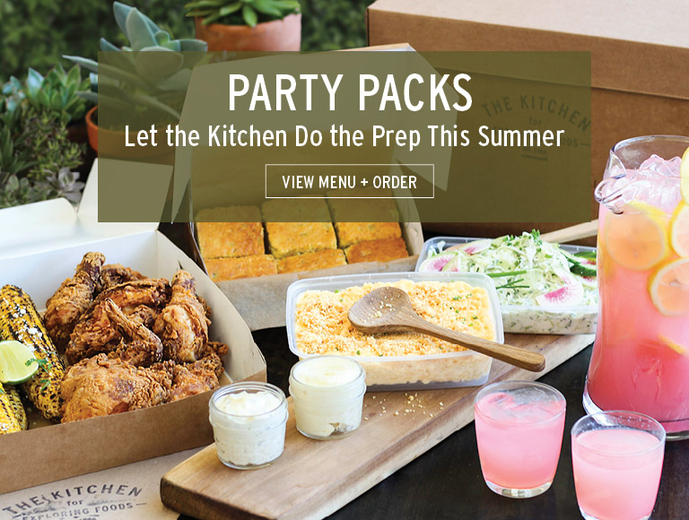 View Menu + Order | Party Packs at The Kitchen for Exploring Foods in Pasadena, CA