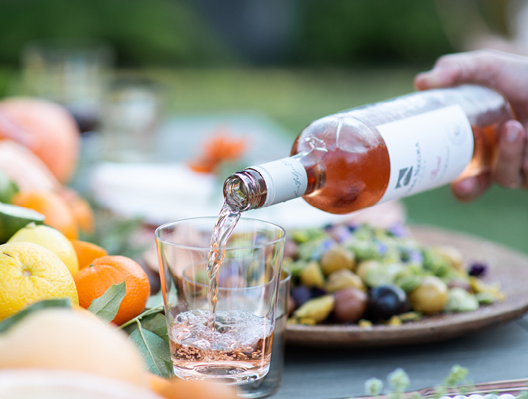 Rosé Wine Pouring Into Glass | Los Angeles Event Catering