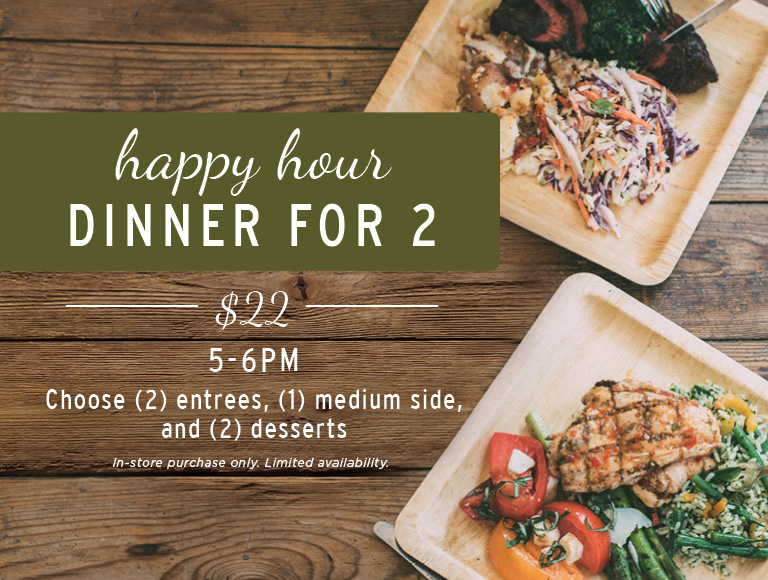 Happy Hour Dinner for 2