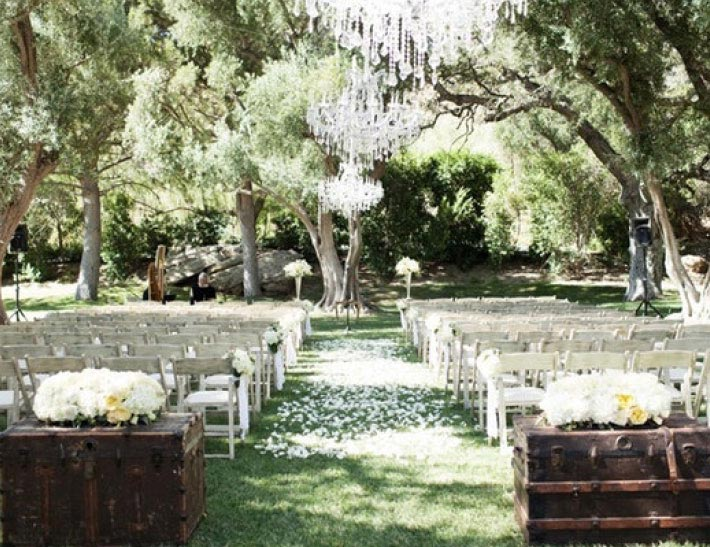 Outdoor private event space at the Hummingbird Nest Ranch in Santa Susana, CA
