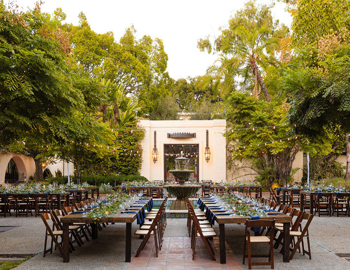 Outdoor private event space at the Los Angeles River Center & Gardens