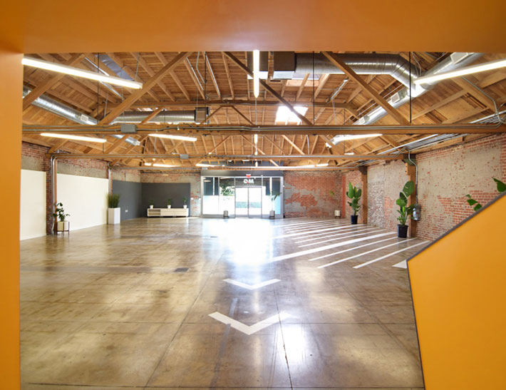 Indoor private event space at MG Studio in Los Angeles, CA