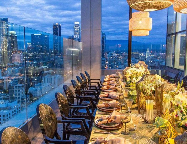 Private event space at South Park Center City View Penthouse in Los Angeles, CA