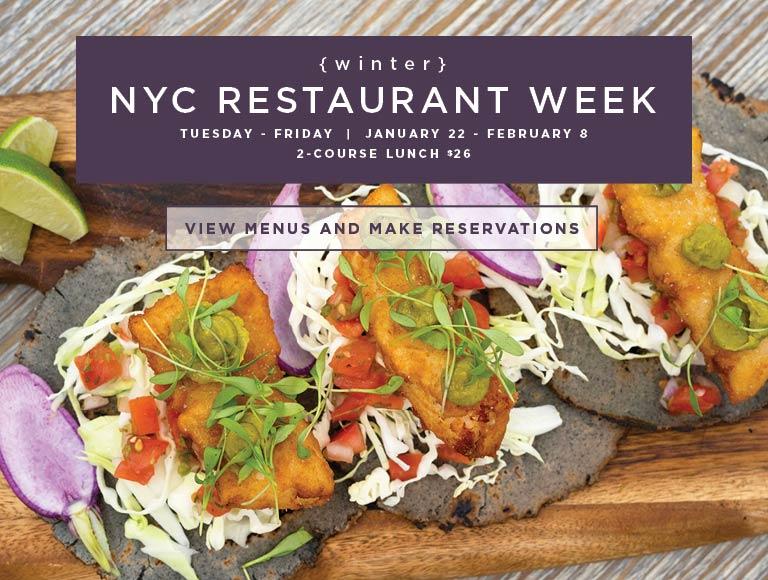 Winter 2019 New York City Restaurant Week | View Menu & Reserve Today